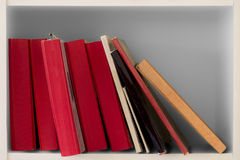 Books in bookcase Royalty Free Stock Photos