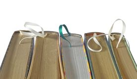 Books with bookmarks Royalty Free Stock Photography
