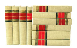 Books, Books, Books. Neat stack of cloth-bound books royalty free stock image