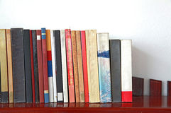 Books on bookshelf Royalty Free Stock Photos
