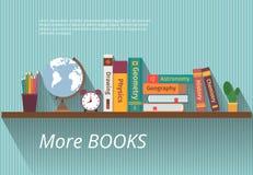 Books on bookshelf Stock Photography