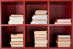 Books on bookshelves Royalty Free Stock Photography