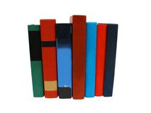 Books border bright collection Royalty Free Stock Photo
