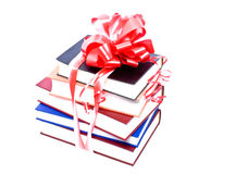Books with a bow Stock Image