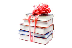 Books with a bow Royalty Free Stock Image