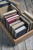 Books in the box Royalty Free Stock Images