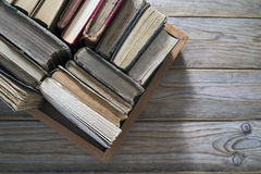Books in the box Royalty Free Stock Photo