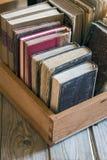 Books in the box Stock Photo