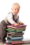 Books and boy Stock Photo