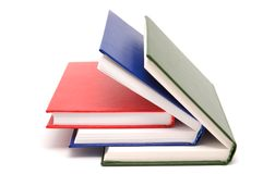 Books with bright colour covers. Royalty Free Stock Image