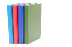 Books bright colour isolated. Royalty Free Stock Image