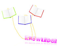 Books bring knowledge royalty free stock photo