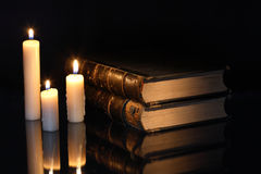 Books And Candles Royalty Free Stock Image