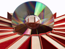 Books with CD. Isolated on white Royalty Free Stock Image