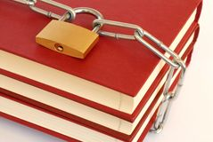 Books in Chains Royalty Free Stock Photo