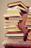 Books on a chair, with a retro effect Royalty Free Stock Photography