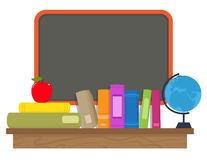 Books and Chalkboard Stock Photography