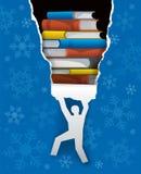 Books christmas present. Royalty Free Stock Image