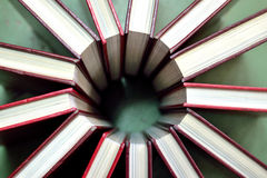 Books in circle Stock Images