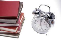 Books & clock Royalty Free Stock Photos