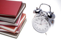 Books & clock Royalty Free Stock Photo