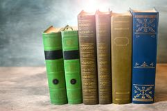 Books close-up. Classic literature. royalty free stock photos