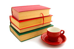 Books and coffee cup Royalty Free Stock Image