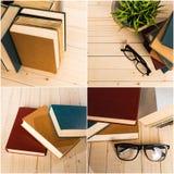 Books collage Stock Photos