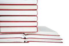 Books Collection. Stack of books isolated on the white Stock Image