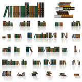 Books collection. Isolated on a white background Stock Photography