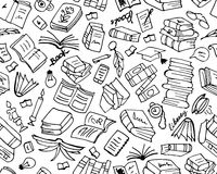 Books Collection, Seamless Pattern For Your Design Royalty Free Stock Photos
