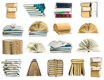 Books collection on a white background Stock Image