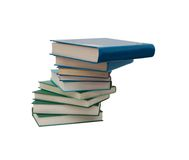 Books college. Books lie on each other. with copy-space, small depth to sharpness royalty free stock photography