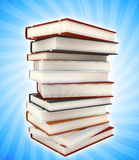 Books on colored background Stock Photography