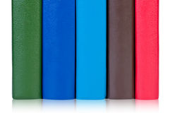 Books with colorful covers. Royalty Free Stock Photo
