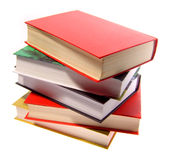The books combined by a pile Royalty Free Stock Photography