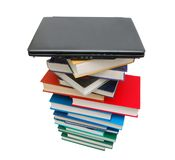 Books and computer Royalty Free Stock Image