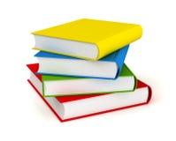 Books concept   3d illustration. Books 3d illustration isolated on white background Stock Image