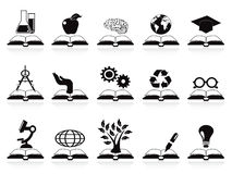 Books concept icons set Royalty Free Stock Image