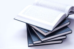Books conceptual image. Books on lying Royalty Free Stock Images