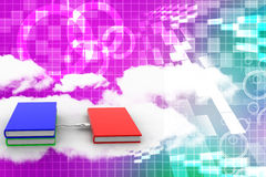 Books Connected Via Usb Illustration Royalty Free Stock Photo