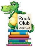 Books and crocodile Stock Photos