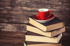 Books and cup of coffee Royalty Free Stock Photos