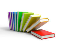 Books. 3d colored books isolated on white background Stock Photos