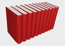 Books. 3d illustration isolated in withe background Royalty Free Stock Image
