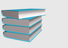 Books. 3d illustration isolated in withe background Stock Images