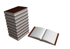 Books. 3d illustration,  in withe background Royalty Free Stock Photos