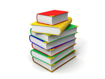Books. 3D image of  books Royalty Free Stock Photos