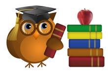 books den kloka gammala owlen royaltyfri illustrationer