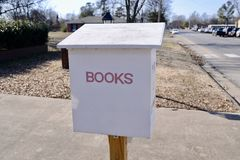 Books Depository Return for overdue books. A Book return box at a public library where library book user can return due and overdue books Royalty Free Stock Image